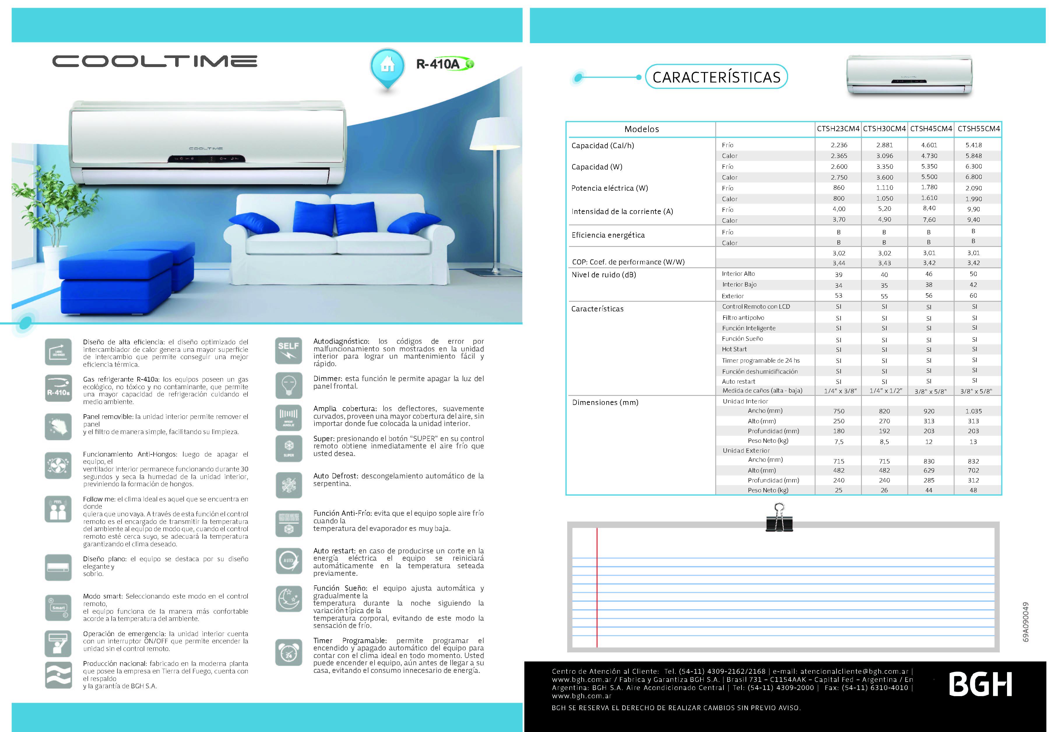Manual bgh silent air sistema de aire acondicionado for Manual aire acondicionado